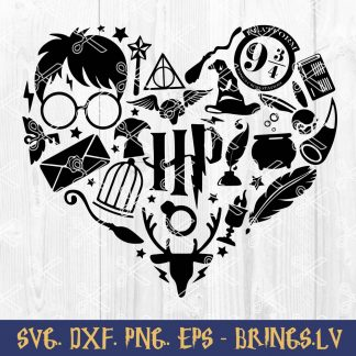 Harry Potter Heart SVG