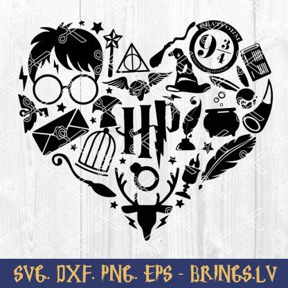 Harry Potter Heart SVG