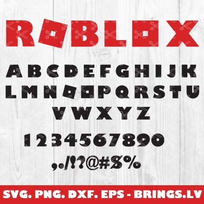ROBLOX LETTERS SVG