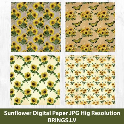 Sunflower Digital Pattern