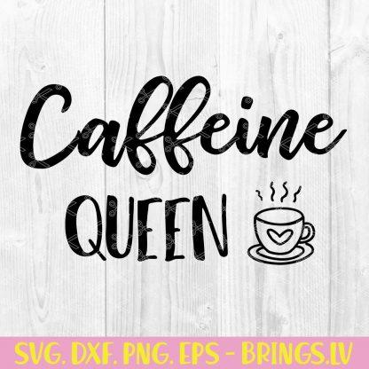 CAFFEINE QUEEN SVG
