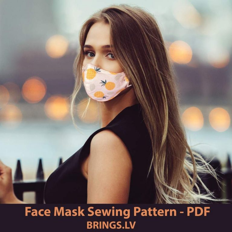 Printable Face Mask Sewing Pattern