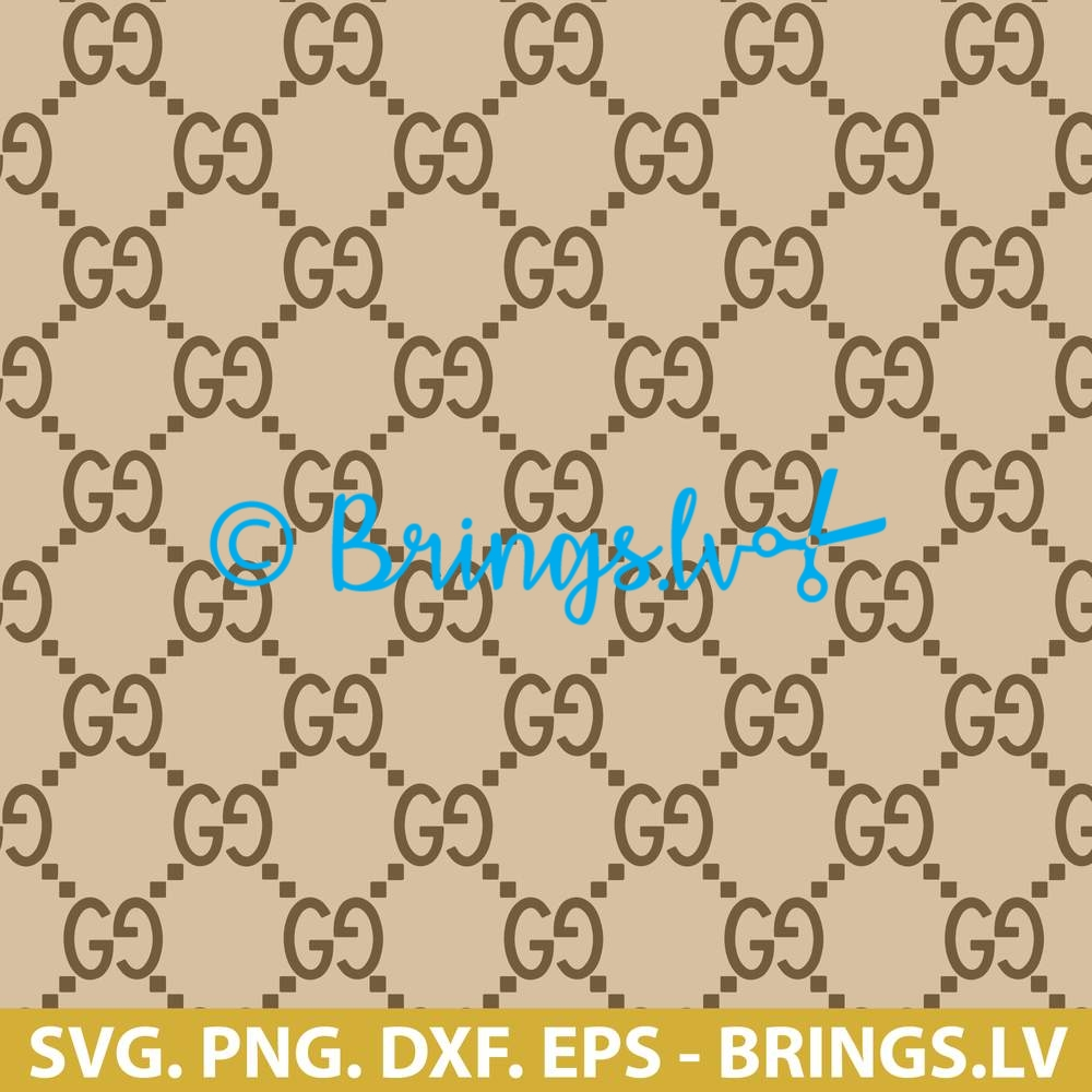 Gucci Svg Dxf Png Eps Cut Files Gucci Pattern Svg Gg Design