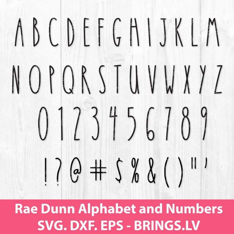 Rae Dunn Font SVG