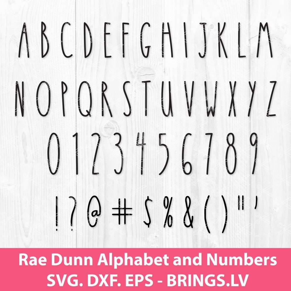 Rae Dunn Alphabet Svg Dxf Eps Cut Files Rae Dunn Font Svg