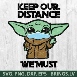 Star Wars Baby Yoda Face Mask Quarantine Coronavirus SVG