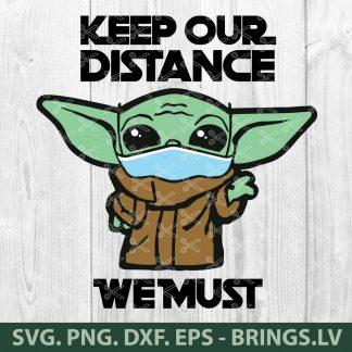 Star Wars Baby Yoda Face Mask Quarantine Coronavirus SVG