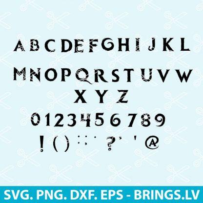 Frozen Font SVG