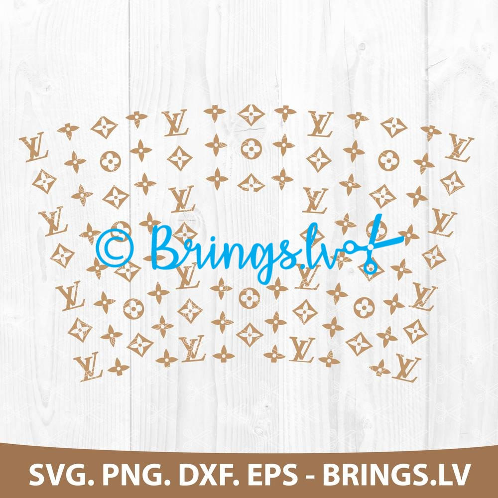 Louis Vuitton Svg Cut File Seamless Full Wrap For Starbucks