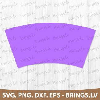 Plain tumbler coffee cup wrap SVG