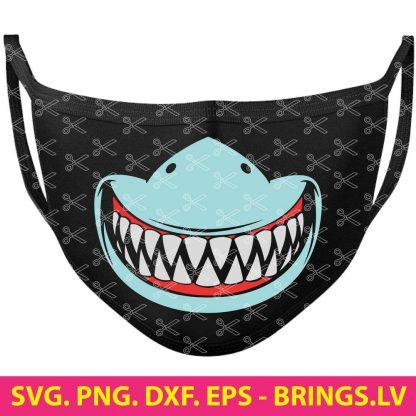 SHARK TEETH MASK SVG