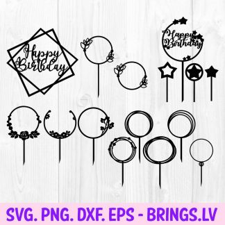 Birthday Cake Topper SVG