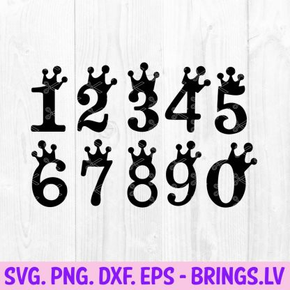 Cake Topper Numbers SVG