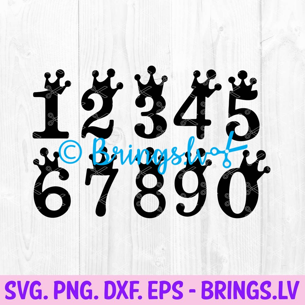 Cake Topper Numbers Svg Png Dxf Eps Cut Files Age Cake Topper Svg