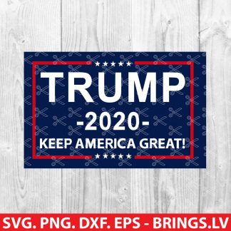 Trump Keep America Great 2020 SVG