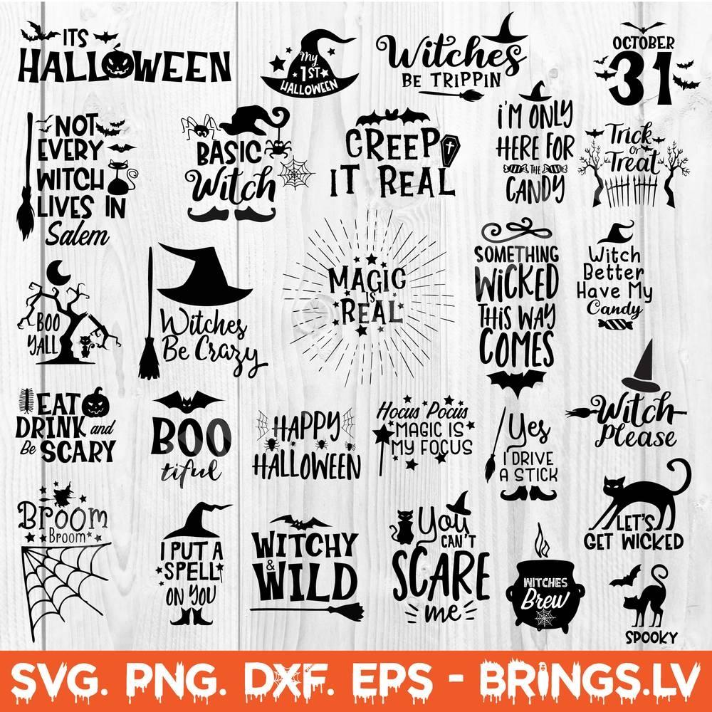 Halloween Bundle Svg Dxf Png Halloween Svg Mega Bundle