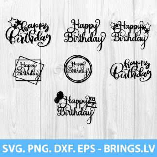 Happy Birthday SVG