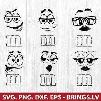 M&M Faces SVG