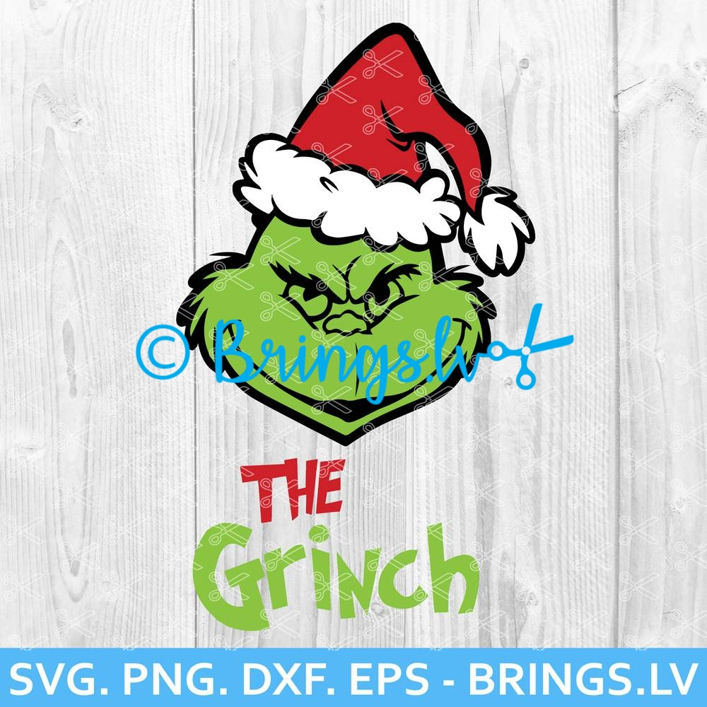 The Grinch Svg Png Cut Files Grinch Face Svg Grinch Head Svg
