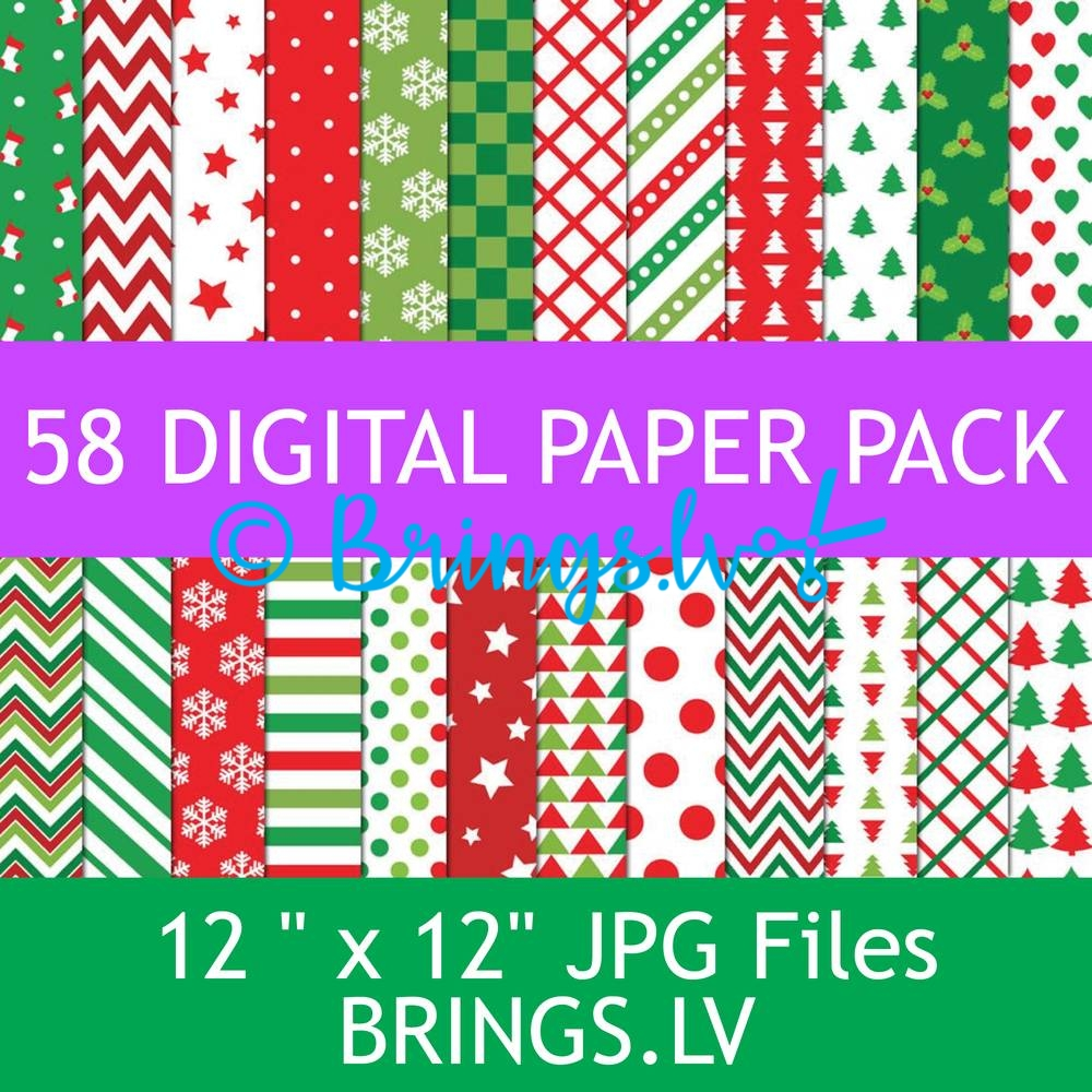Christmas digital paper JPG