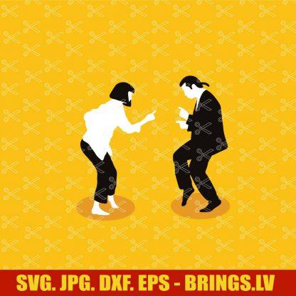 Pulp Fiction Poster SVG
