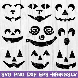 Pumpkin Faces SVG