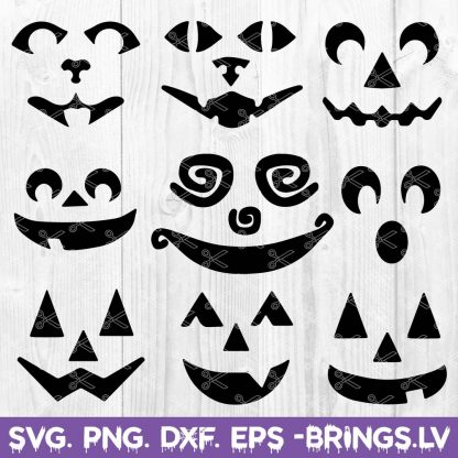 Pumpkin Faces SVG