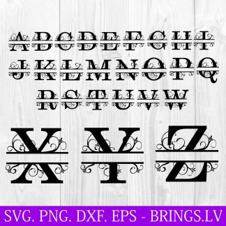 Split Monogram SVG