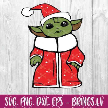 Baby Yoda Christmas Star Wars The Mandalorian SVG