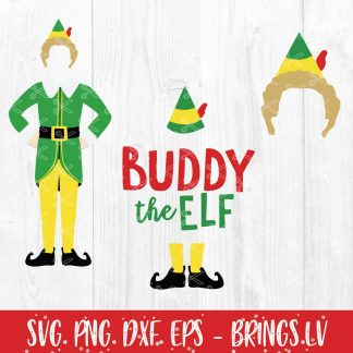 Buddy The Elf Christmas SVG