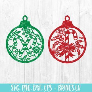 Christmas Ornament SVG Bundle
