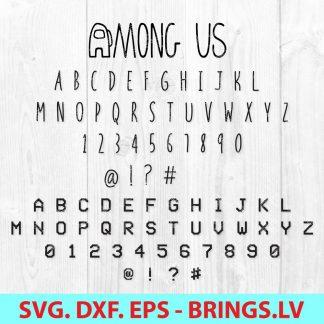 Among Us SVG Font