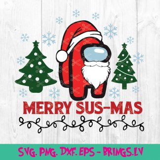 Merry SusMas Among Us SVG – Merry Christmas Among Us SV