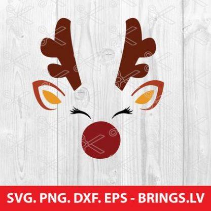 REINDEER FACE CHRISTMAS SVG