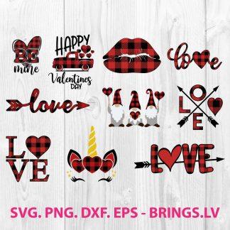 Buffalo Plaid Valentine Heart SVG