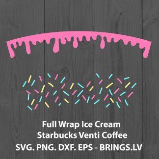 Full Wrap Ice Cream Starbucks Venti Coffee SVG