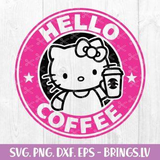 Hello Kitty SVG Starbucks Coffee SVG for Cricut