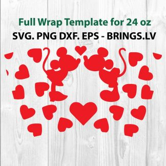Mickey Wrap Svg, Minnie Wrap Svg