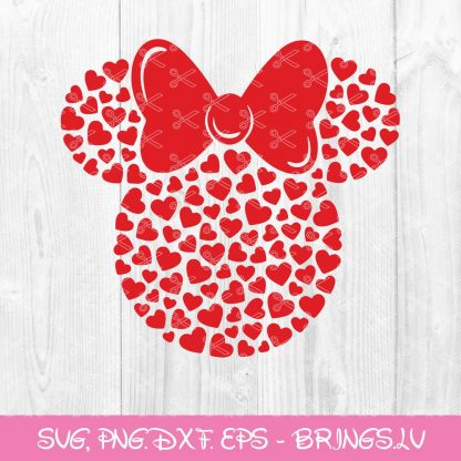 Minnie Heart SVG