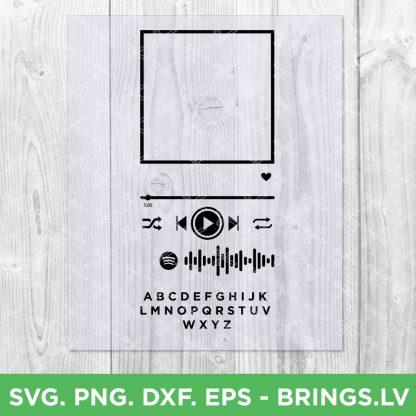 Spotify glass art template SVG