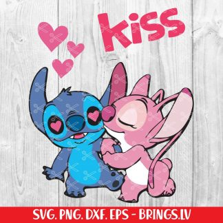 Stitch Valentines SVG