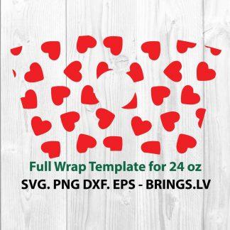 Valentine Hearts Wrap SVG