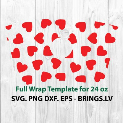 Valentine Hearts Wrap SVG