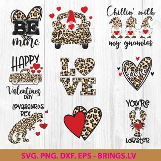 Valentine Leopard Heart SVG