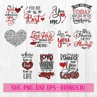 Valentines SVG Bundle