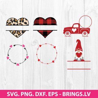 Valentine Monogram Frame SVG