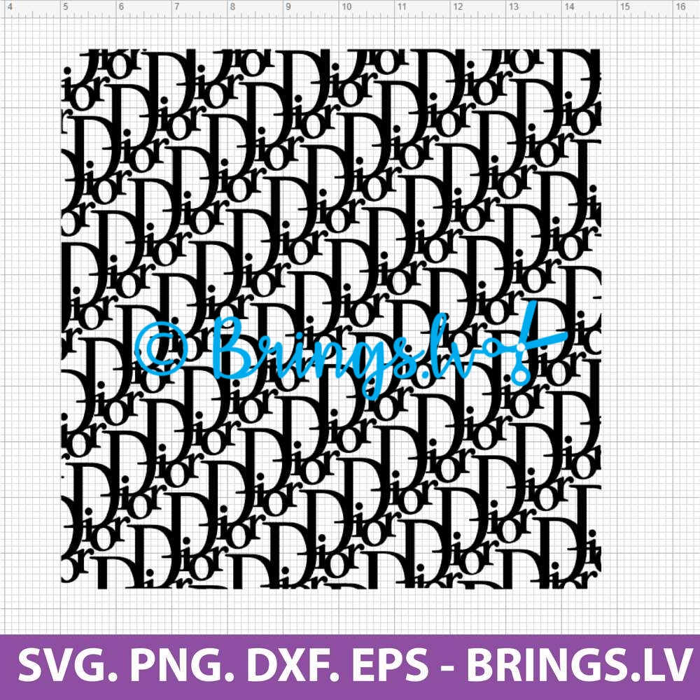 Dior Seamless Pattern SVG Cut File