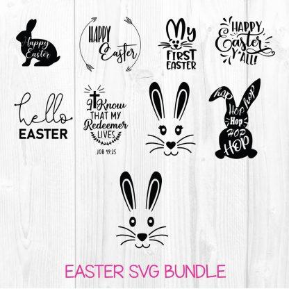 Happy Easter SVG Bundle Cut File