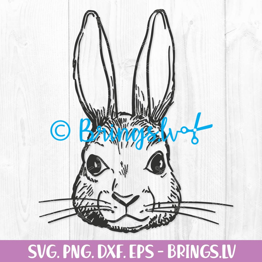 Easter SVG Cute Bunny Cute Easter Bunny SVG Silhouette Bunny Eyelashes Rabbit Cut File Easter Bunny Clipart Bunny Cricut Bunny SVG