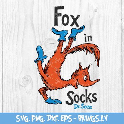 The fox in the socks svg
